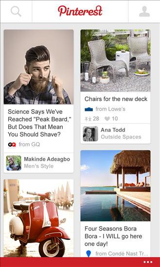 Pinterest chega ao Windows Phone